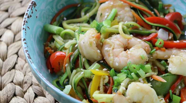 Zucchini & Shrimp Stir-Fry (Video)