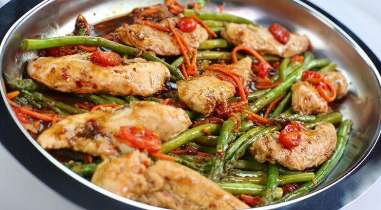 Balsamic Chicken with Vegetables (Video)