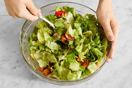 <b>Make the salad & serve your dish: </b>To the bowl of prepared salad ingredients, add the roasted vegetables and dressing; toss to coat. Serve the salad topped with the cooked beef. Enjoy!