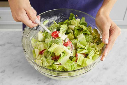 <b>Make the salad & serve your dish: </b>Just before serving, add
