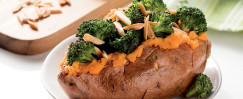 Broccoli-Stuffed Sweet Potatoes