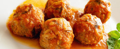 Braised Brown Rice Meatballs