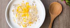 Almond Tapioca with Banana and Corn