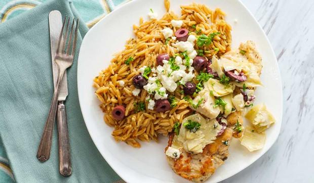 Mediterranean Chicken with Artichoke Topping