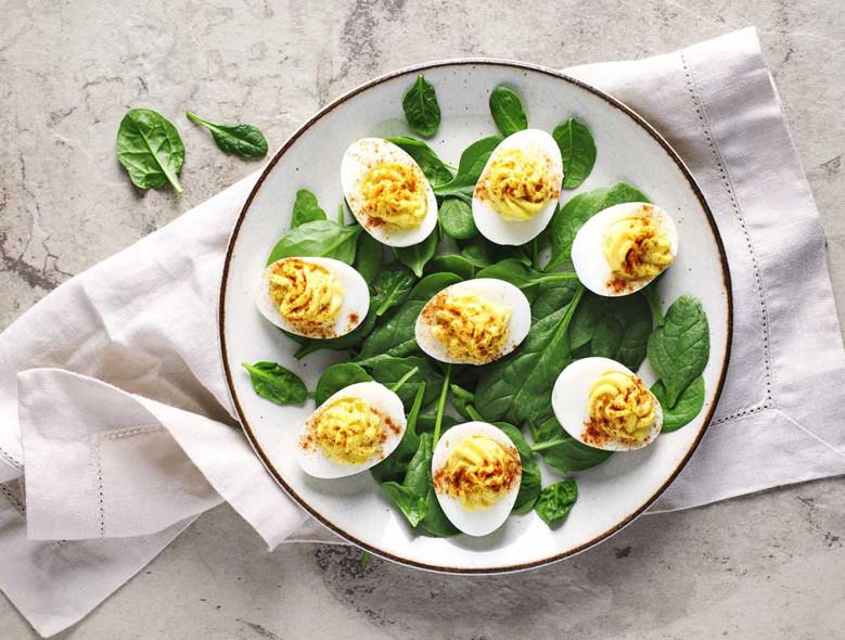 Dijon and Horseradish Deviled Eggs