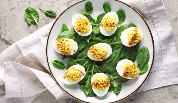 Dijon and Horseradish Deviled Eggs