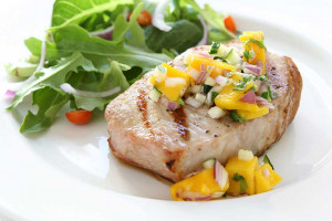 Budget-Friendly Pork Chops with Peach Salsa