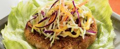 Budget-Friendly Veggie Burgers with Mango Slaw
