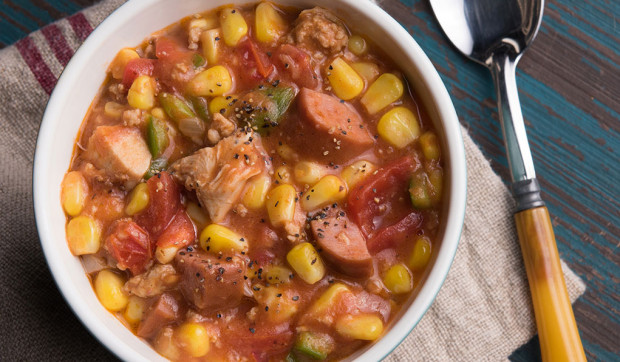 Cajun-Style Corn Soup