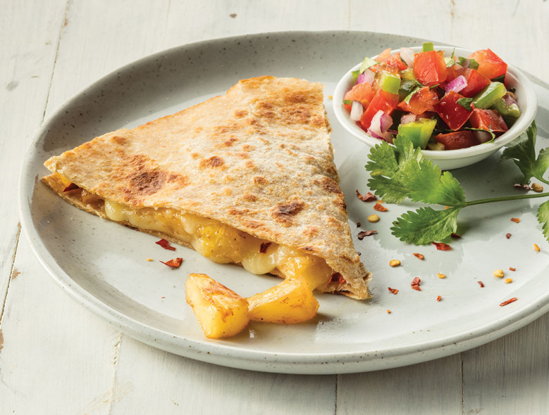 Pineapple and Chile Quesadillas