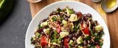 Instant Pot Wheat Berry, Black Bean, and Avocado Salad