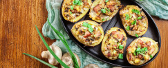 Instant Pot Chicken Sausage and Zucchini Stuffed Potatoes