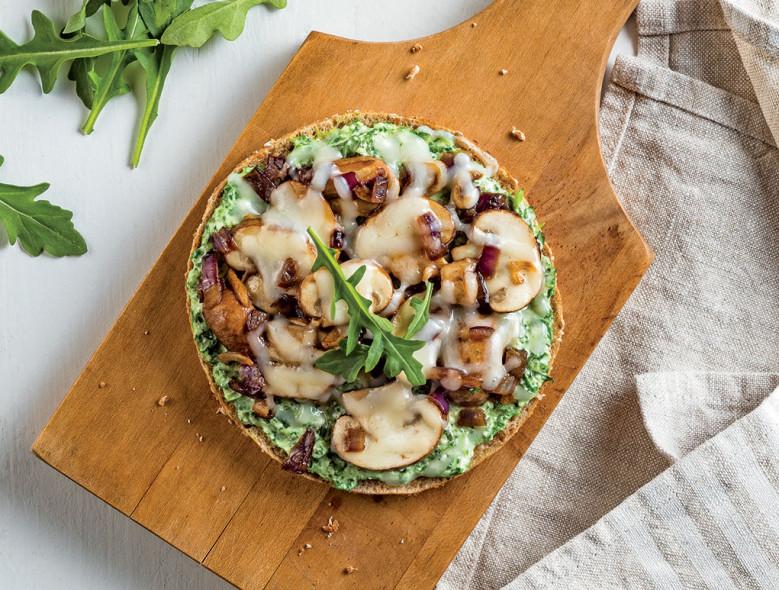 Mushroom Arugula Pizza