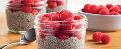 Lemon Raspberry Chia Seed Pudding