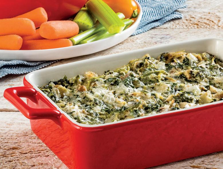 Onion, Spinach, and Artichoke Dip