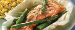 Salmon and Asparagus Gremolata