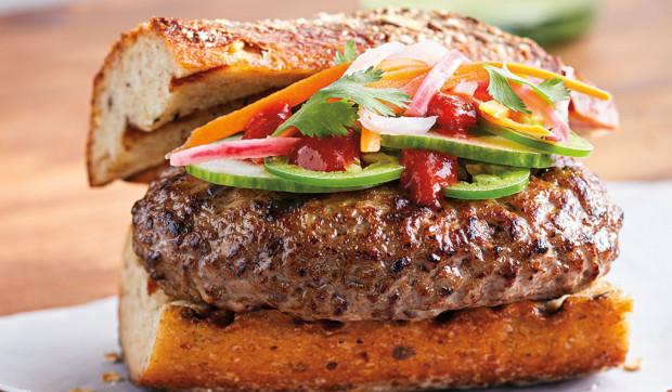 Devin Alexander's Bahn Mi Burger