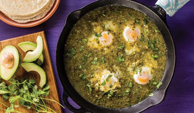 Eggs Drowned in Salsa Verde