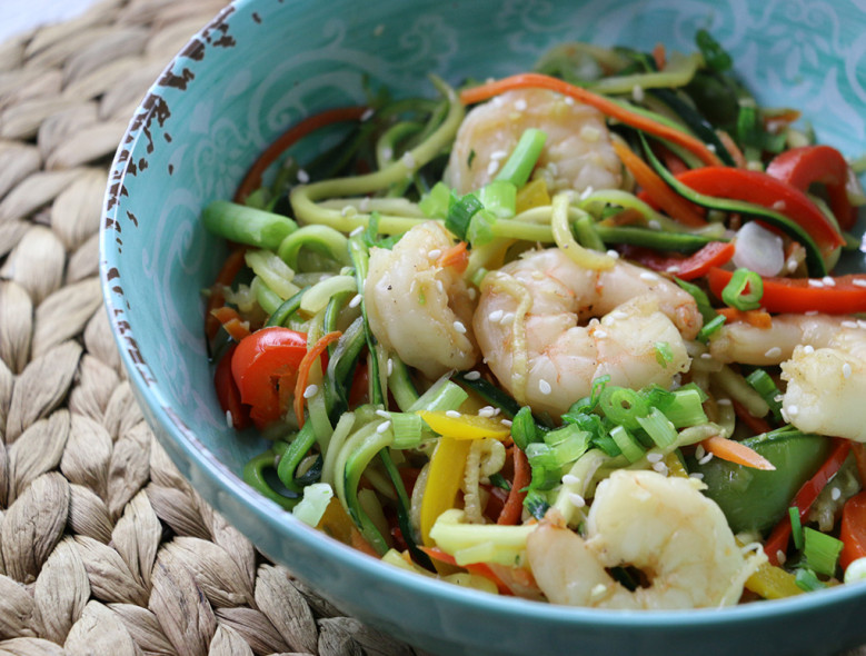 Zucchini and Shrimp Stir Fry