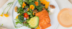 Alaska Salmon with Orange and Watercress