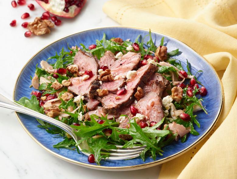 Lamb, Kale, and Pomegranate Salad