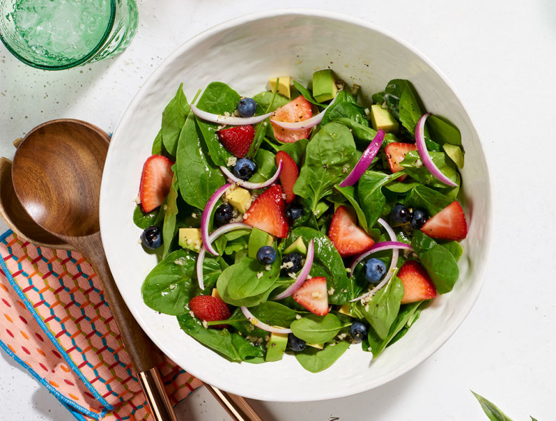 Spinach, Avocado, and Summer Berry Salad