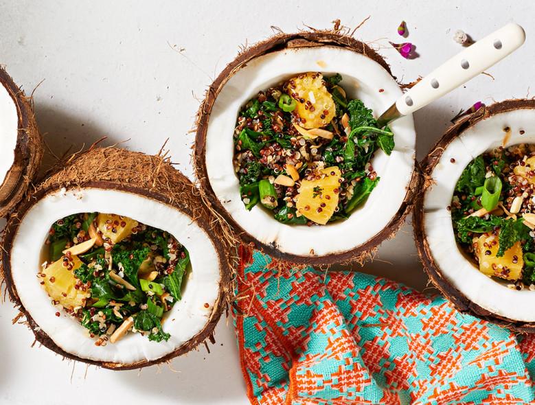 Tropical Kale Quinoa Salad