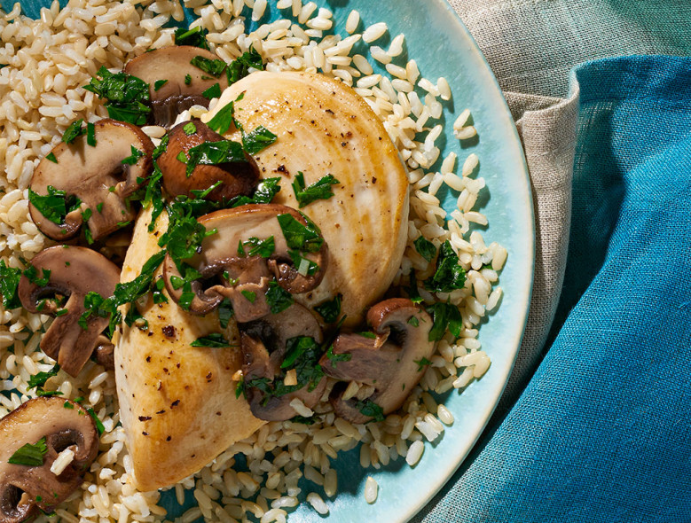 Tarragon Herbed Chicken and Mushrooms