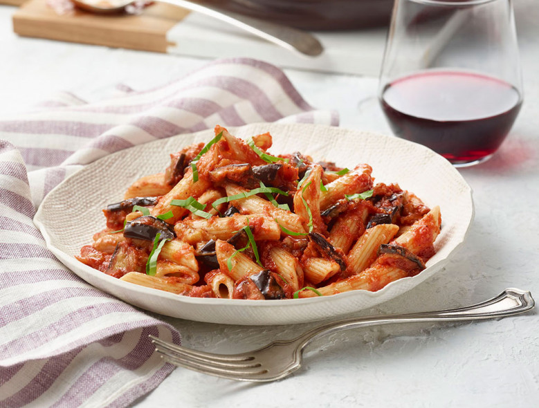 Penne with Eggplant-Tomato Sauce