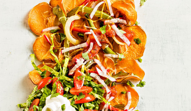 Air Fryer Sweet Potato Nachos
