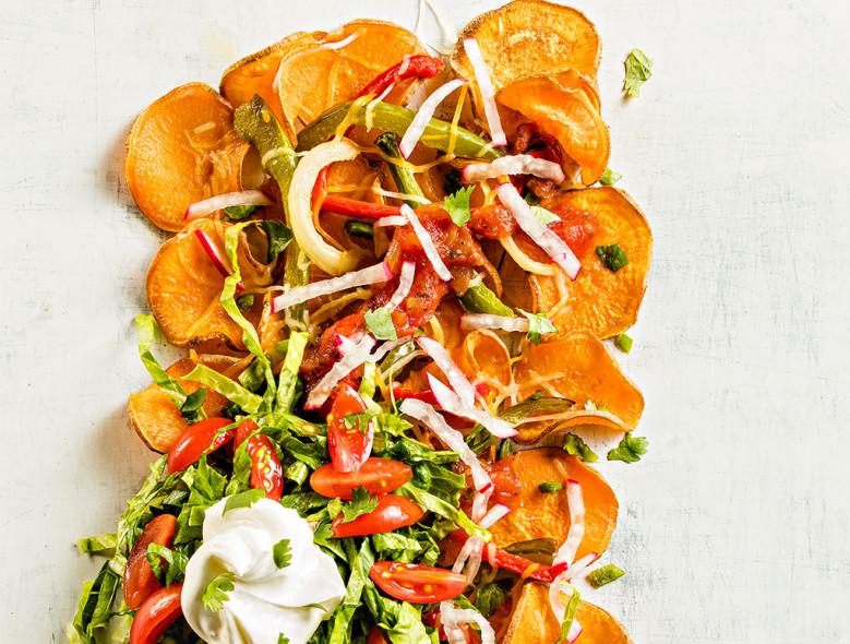 Air Fryer Sweet Potato Nachos