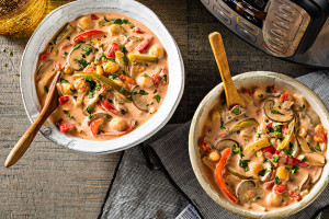 Instant Pot Vegetarian Thai Mushroom Soup