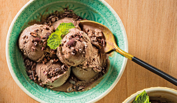 "Peppermint Chocolate ""Nice Cream"""