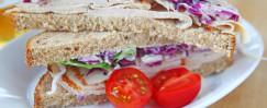 Crunchy Coleslaw Turkey Sandwich