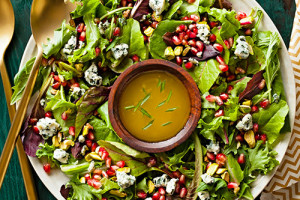 Thanksgiving Winter Salad with Champagne Vinaigrette