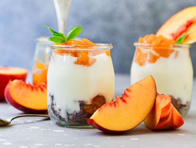 Just Peachy Yogurt and Granola Jar