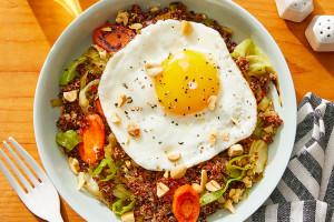 Quinoa Fried Rice with Bok Choy, Shishitos & Carrots