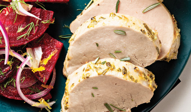 Mustard-Herb Roasted Pork Tenderloin