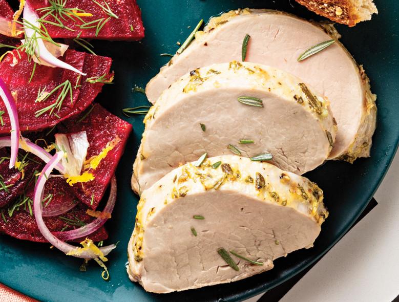 Mustard-Herb Roasted Pork Tenderloin