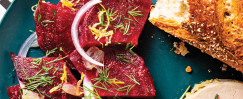 Roasted Beets with Lemon and Dill