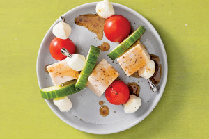 Turkey and Mozzarella Snack Skewers