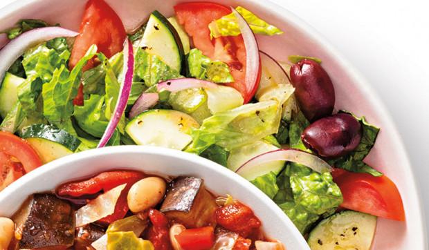 Side Greek Salad with Red Wine Vinaigrette