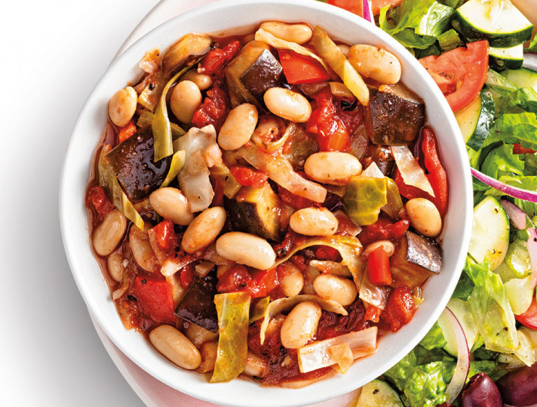 Slow-Cooker Ratatouille with White Beans
