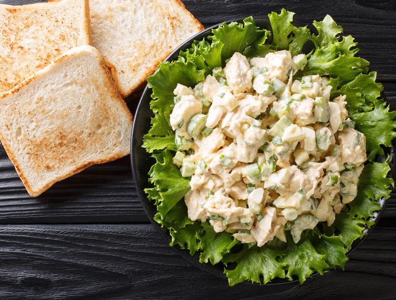 Easy Chicken Salad Toast