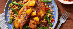Spanish-Spiced Tilapia & Farro Salad