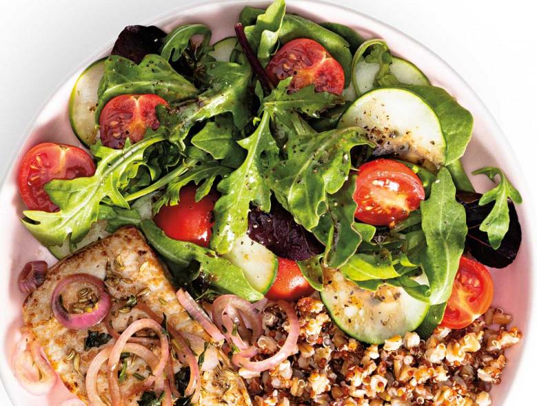 Simple Side Salad with Balsamic Vinaigrette
