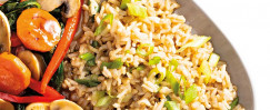 Simple Brown Rice with Scallions
