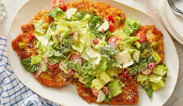 Chicken Milanese with Pizzeria Salad