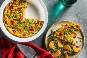 Crustless Asparagus and Tomato Quiche