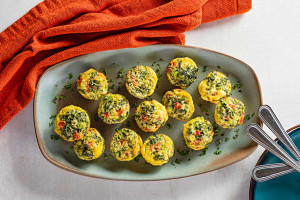Spinach and Parmesan Egg Bites